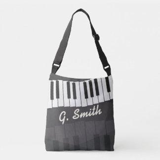 Kundenspezifische Schwarzweiss-Klavier-Tastatur. Tragetaschen Mit Langen Trägern