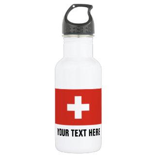 Kundenspezifische Schweizer Flaggenwasserflaschen Trinkflaschen