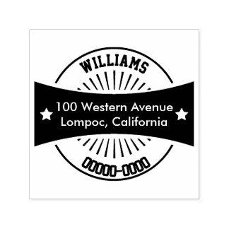 Kundenspezifische Selbsttinten-Adressen-Briefmarke Permastempel