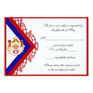Kundenspezifische Serbian-Hochzeits-Antwort 8,9 X 12,7 Cm Einladungskarte