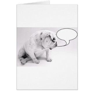 kundenspezifische Spracheblasenbulldogge Karte