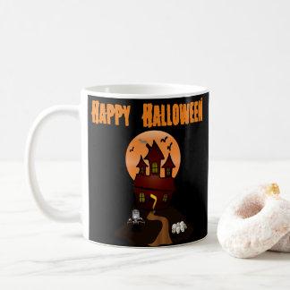 Kundenspezifische Spuk Haus-Halloween-Tasse Kaffeetasse