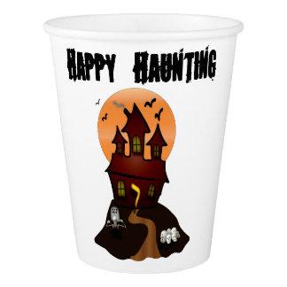 Kundenspezifische Spuk Haus-Schalen Halloweens Pappbecher