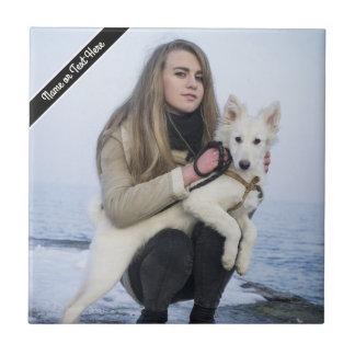 Kundenspezifische Strand-Hunde-und Kleine Quadratische Fliese