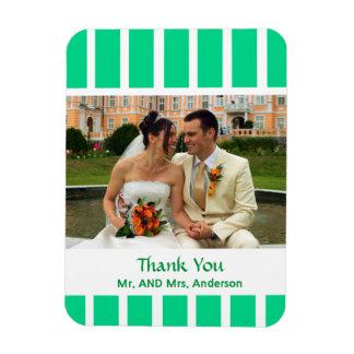 Kundenspezifische Streifen-Gastgeschenk Hochzeit Magnet