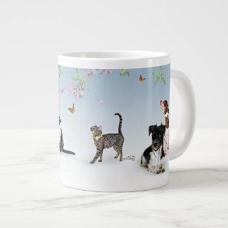 Kundenspezifische Tasse, die Schutz-Sterne Jumbo-Mug