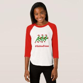Kundenspezifische Textweihnachtsläufer T-Shirt