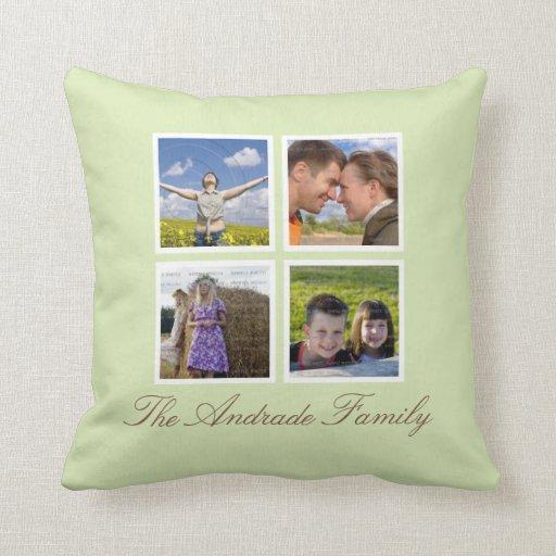 kundenspezifische throw kissen foto collage mit kissen. Black Bedroom Furniture Sets. Home Design Ideas