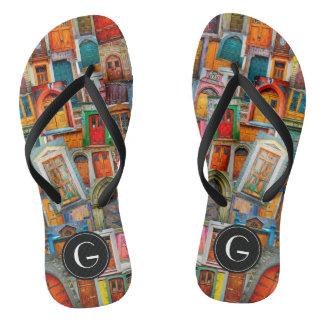 Kundenspezifische Türen vom Welteinzigartigen Flip Flops