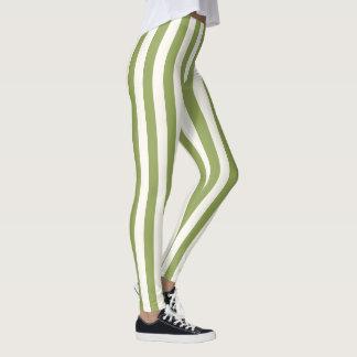 Kundenspezifische vertikale grüne leggings