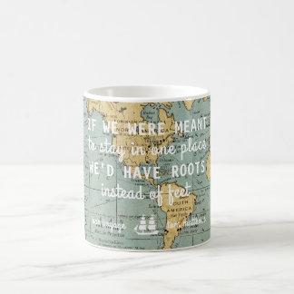 Kundenspezifische Vintage Karten-Reise zitiert   Kaffeetasse
