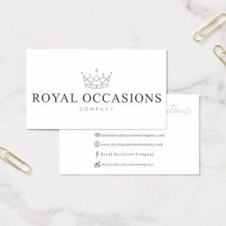 Kundenspezifische Visitenkarten für königliche