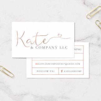 Kundenspezifische Visitenkarten: Kate & Company Visitenkarte