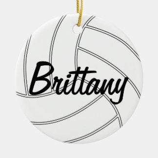 Kundenspezifische Volleyball-Weihnachtsverzierung Keramik Ornament