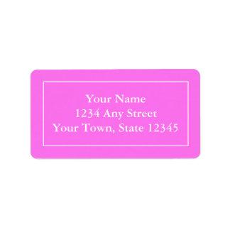 Kundenspezifische voradressierte rosa u. weiße adressaufkleber