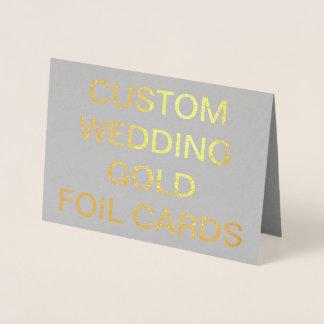 Kundenspezifische Wedding personalisierte Folienkarte