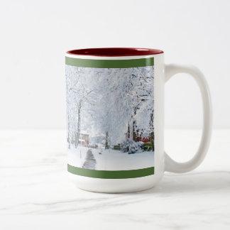 KUNDENSPEZIFISCHE WEIHNACHTSkaffee-TASSE MIT FOTO Zweifarbige Tasse