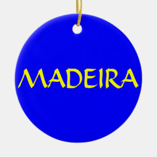 Kundenspezifische Weihnachtsverzierung MADEIRAS Rundes Keramik Ornament