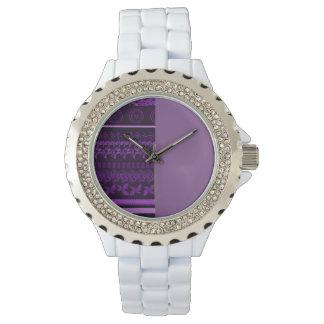 Kundenspezifische weiße Uhr