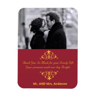 Kundenspezifische Wirbels-Gastgeschenk Hochzeit Magnet