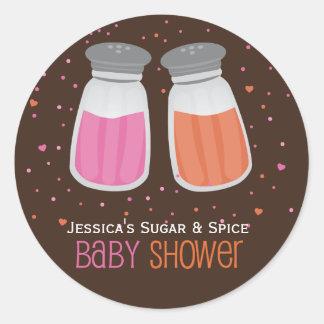 Kundenspezifische Zucker-u. Runder Aufkleber