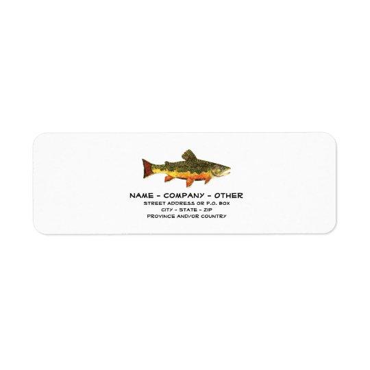 Kundenspezifischen Forelle-Fischers Rückversand-Adressaufkleber