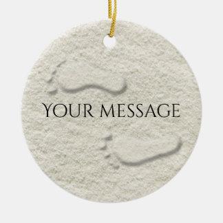 Kundenspezifischer Abdruck/Abdrücke auf sandigem Rundes Keramik Ornament