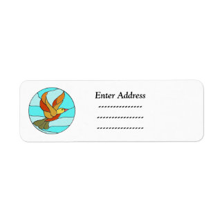 Kundenspezifischer Adressenaufkleber des Vogels