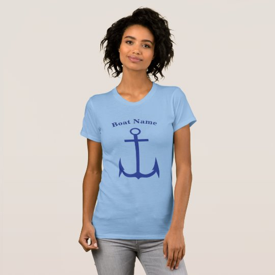 Kundenspezifischer Anker-blaues T-Shirt