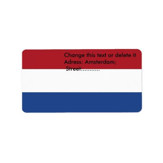 Kundenspezifischer Aufkleber mit Flagge von den Adressaufkleber