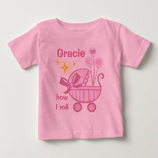 Kundenspezifischer Baby-Mädchen-niedlicher T - Baby T-shirt