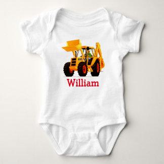 Kundenspezifischer Baby-Namen-Gelb-Gräber Baby Strampler