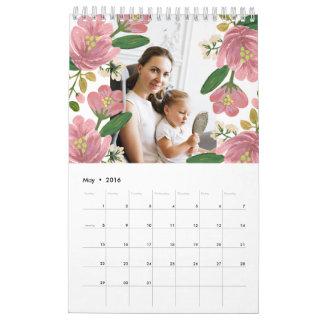 Kundenspezifischer Blumenkalender Wandkalender