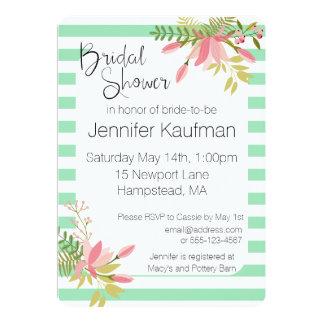 Kundenspezifischer Blumenstreifen, der | 12,7 X 17,8 Cm Einladungskarte