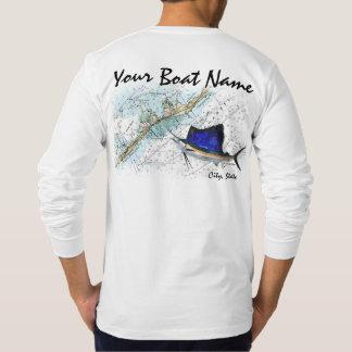 Kundenspezifischer Boots-Name mit Diagramm und T-Shirt