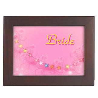 Kundenspezifischer Braut-Andenken-Kasten mit Erinnerungsdose