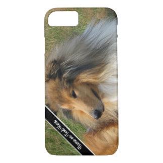 Kundenspezifischer Collie-Hundestillstehender iPhone 7 Hülle