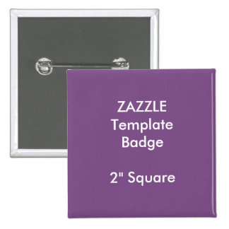 """Kundenspezifischer Druck 2"""" quadratische Quadratischer Button 5,1 Cm"""