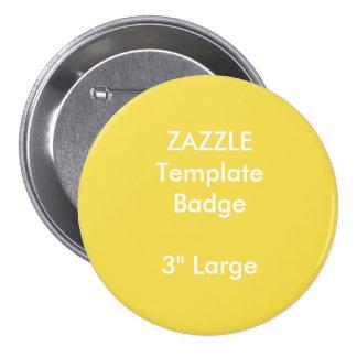"""Kundenspezifischer Druck 3"""" große runde Runder Button 7,6 Cm"""