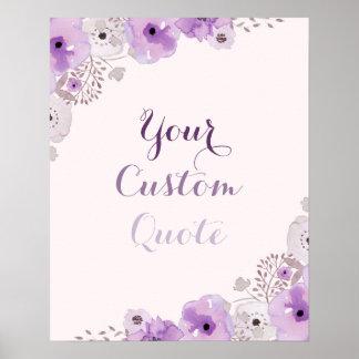 Kundenspezifischer Druck des lila personalisierten Poster