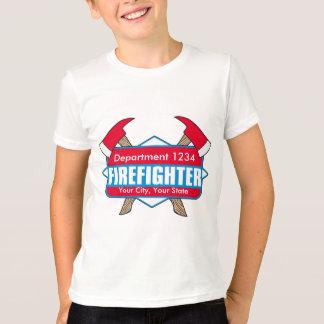 Kundenspezifischer Feuerwehrmann mit Äxten T-Shirt