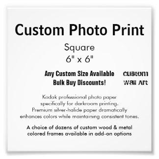 """Kundenspezifischer Foto-Druck - quadrieren Sie 6"""" Fotodruck"""
