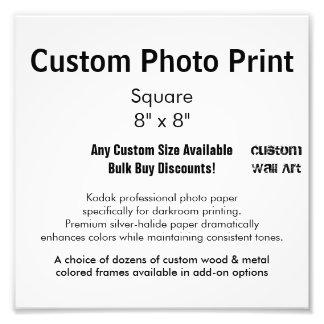 """Kundenspezifischer Foto-Druck - quadrieren Sie 8"""" Fotodruck"""