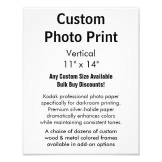 "Kundenspezifischer Foto-Druck - Vertikale 11"" x Foto"