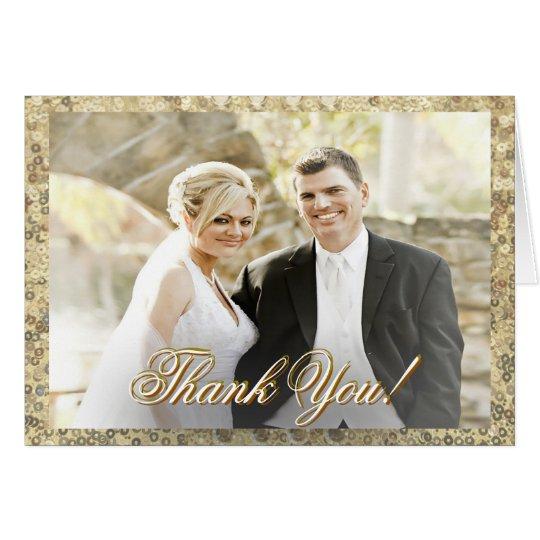 Kundenspezifischer Foto-GoldSequin danken Ihnen Karte