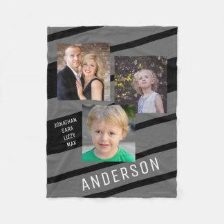 Kundenspezifischer Foto-Rahmen der Familien-3 Fleecedecke