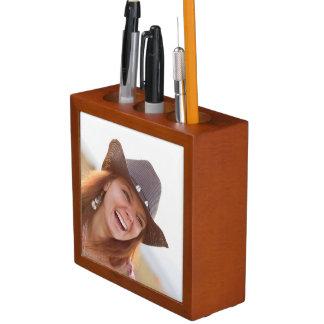 Kundenspezifischer Foto-Schreibtisch-Organisator Stifthalter