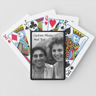 Kundenspezifischer Foto-Spielkarte-schwarzer Bicycle Spielkarten