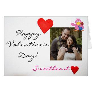 Kundenspezifischer Foto-u. des Valentines Karte