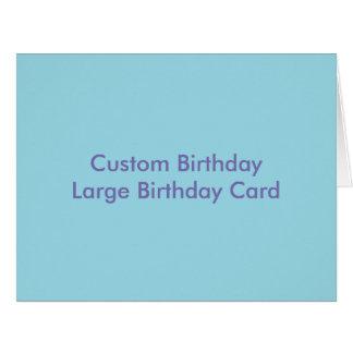 Kundenspezifischer Geburtstags-große Karte